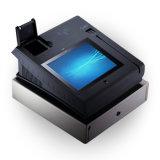 Tiras magnéticas androides del tacto y posición de las tarjetas de viruta del IC con la impresora