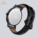 Uw Bestand Horloge van het Water van de Horloges 5ATM van het Ontwerp van de Douane van het Embleem Eenvoudig met Echte Riem 72022 van het Leer