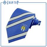 高等学校のための標準的で青いポリエステルネクタイ