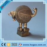 Polyresin Custom Bronze Decoração Guerreiro Swordman