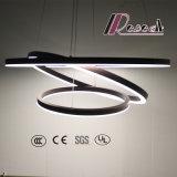 De Ronde Decoratieve Lamp van de Tegenhanger van het Spoor van de Bol van Aluminium drie Acryl