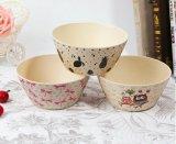 BPA libèrent saladier en bambou normal d'impression de vaisselle de cuisine de fibre (YK-BP2026)