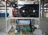 Máquina de gelo em chapa para armazenamento de frio de frutos do mar