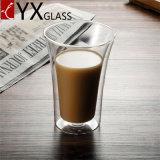 Handgemachtes WeihnachtsThermos Pyrex doppel-wandiges Glascup gesetztes Hoch-Borosilicat Doppeltes geummauerte Glaskaffeetasse-Cup-Großverkauf-Raum-doppel-wandige Glaskaffeetasse
