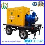 El transporte de aguas residuales de autocebado Diesel bomba de remolque