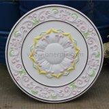 Leve de poliuretano PU tecto decorativa Rose/Medalhão Hn-023