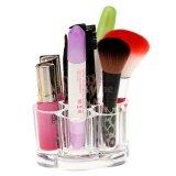 De het duidelijke Transparante AcrylSchoonheidsmiddel van de Stijl van de Bloem en Houder van de Borstel van de Make-up