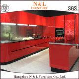 N&Lのステンレス鋼の高く光沢のある赤いラッカー食器棚