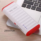 Haute puissance 20000mAh Portable USB Power Bank avec LED plus léger
