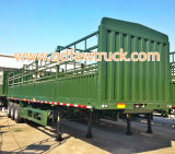 De aanhangwagen van het Vervoer van het vee/van de Koe/van het Vee, de aanhangwagen van het veevee