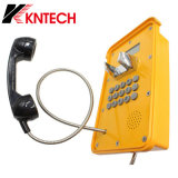 Индикация Kntech Knsp-16 LCD водоустойчивого телефона VoIP ГЛОТОЧКА промышленная
