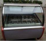 Vetrina della visualizzazione del gelato di Gelato delle sei vaschette