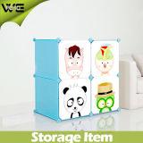 Roupeiro de plástico Closet Bedroom Caixa de armazenamento para crianças dobrável