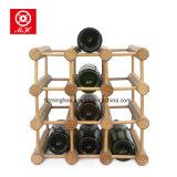 12 زجاجة [ديي] خشبيّ خمر [ديسبلي رك] لأنّ تخزين رصيف صخري