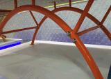خارجيّة [سمك] [تبل تنّيس] طاولة مع [هي غرد] فولاذ شبكة