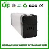 o tipo dos peixes 48V20ah de prata de bloco da bateria da E-Bicicleta para continua e potência eficaz da fonte com pilha de bateria do lítio