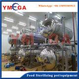 Машина горизонтальной реторты с процессом воды каскадируя для законсервированной еды