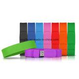 Изготовленный на заказ USB браслета/Wristband USB силикона привода вспышки USB