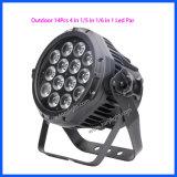 Lumière extérieure de boîte de nuit de matériel d'étape de DMX512 DEL 14PCS