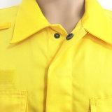 Workwear del Hola-Vis del algodón de la tela del tinte con la cinta reflexiva