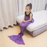 대중적인 뜨개질을 하는 디자인 유아 인어 테일 양털 담요