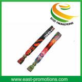 Wristband su ordinazione di festival dell'alto braccialetto sicuro materiale del tessuto del poliestere