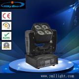 Pocket DJ équipement 4PCS RGBW 4en1 mini-déplacement de la lumière de la tête de matrice
