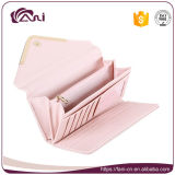 Бумажники габарита Китая Manufecturer для женщин, розового бумажника PU кожаный с конструкцией габарита
