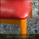 Стул высокого качества прочный и удобный красный кожаный металла гостиницы