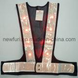 Impermeabilizzare ciao la maglia riflettente infiammante di forza LED per sicurezza stradale