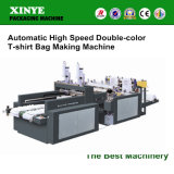 기계를 만드는 자동적인 고속 두 배 색깔 t-셔츠 부대