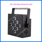 Batterie DEL Parcan de l'éclairage 9PCS d'étape de la PARITÉ 64 de DMX 512