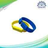 Vara da memória da movimentação do USB da movimentação 32GB/64GB da pena do disco 4GB/8GB/16GB da movimentação U da pena do USB 2.0 do silicone do Wristband