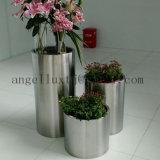 Gebildet Edelstahlim runden Flowerpot des China-Fabrik-Preis-304