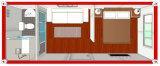 casa prefabricada modular de los 20FT/casa móvil del envase del paquete plano para el dormitorio