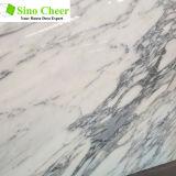 Lajes de mármore brancas da importação para a cozinha e o banheiro