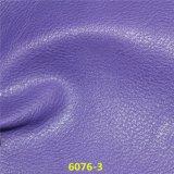 Cuero material de la parte superior de zapato de la PU de la venta de la manera del grano caliente de Lichee