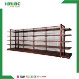 Lojas de varejo de metal lateral duplo prateleiras de exibição