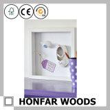 Frame de retrato de madeira branco moderno da caixa de sombra