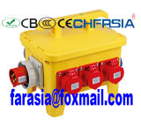 Mobiler industrieller Kontaktbuchse-Kombinations-Energien-Kasten, elektrischer Gehäuse-Stecker-Kontaktbuchse-Kasten
