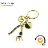 Рекламные материалы логотип эпоксидной смолы металла в форме сердечка цепочки ключей, Keyring, Keyholder