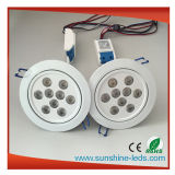 Weißes Shell RGBW/RGB 27W LED Downlight