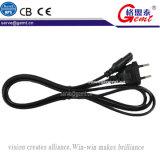 Cable eléctrico europeo del cuaderno de Pow-13206-EU 6-Feet no polarizado