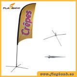 Bandeira de anúncio pequena da pena da impressão de Digitas da fibra de vidro/bandeira do vôo