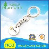 Porte-clés de pièces de monnaie populaires de supermarché avec logo personnalisé