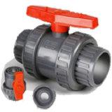 Шаровой клапан двойной штуцер из ПВХ для использования регулятора подачи топлива