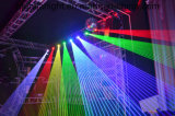 luz laser de la pista móvil a todo color de 2W RGB