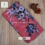 100% Viscose Flores Retro impressos de forma Xale Senhora lenço muçulmano
