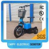 500W 48V 시트와 정면 맨 위 빛을%s 가진 Zappy 3개의 바퀴 전기 스쿠터
