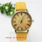 Relógio quente de quartzo das vendas com pano e a cinta de couro Fs544